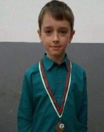 Медал на държавно първенство по спортна гимнастика